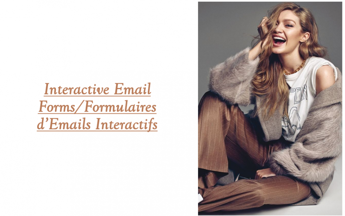 Interactive Email Forms/Formulaires d'Emails Interactifs